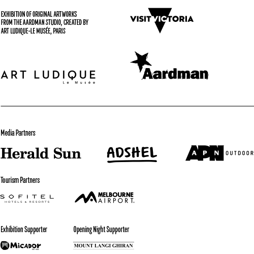 Aardman logo grid