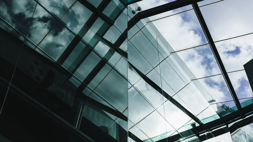 A glass ceiling at ACMI. Image credit: Renee Stamatis Photography