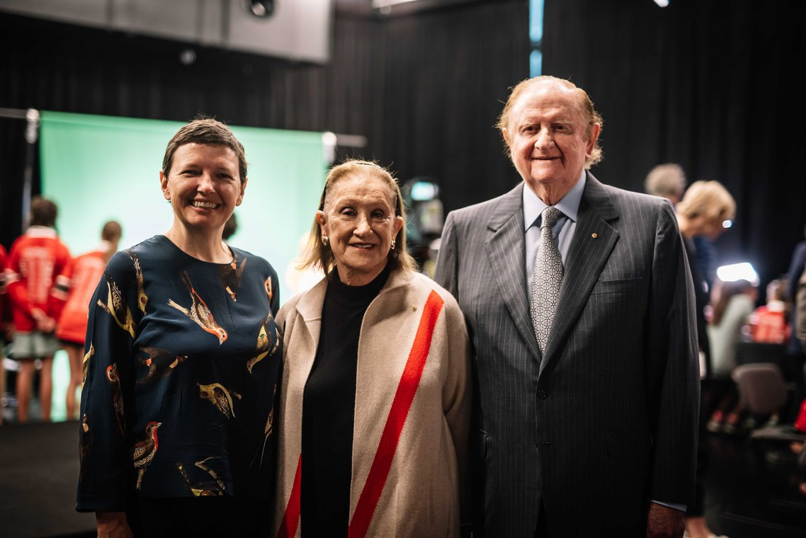 ACMI Director:CEO Katrina Sedgwick with Pauline Gandel AC and John Gandel AC.jpg