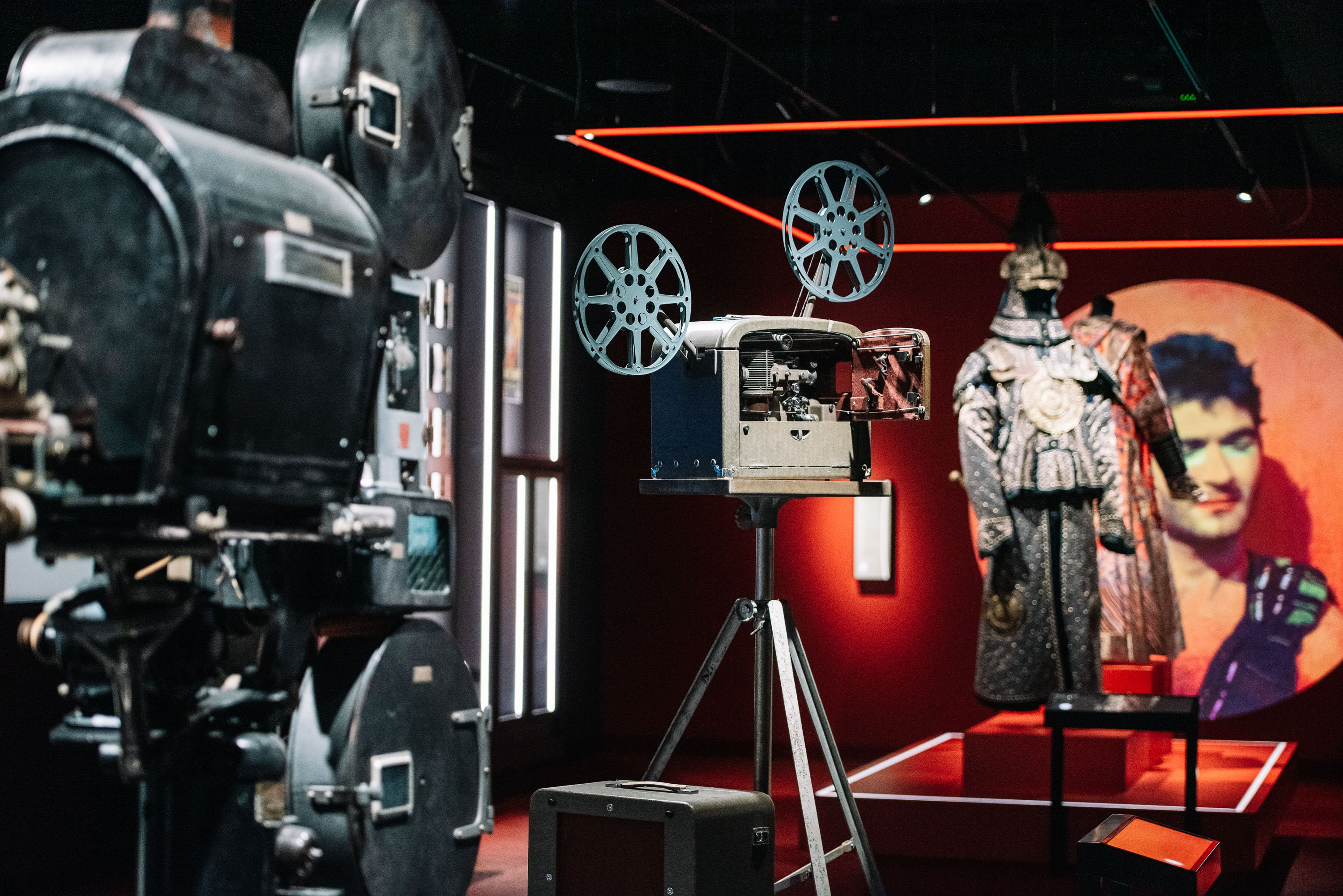 Vintage film cameras at ACMI - photo by Phoebe Powell
