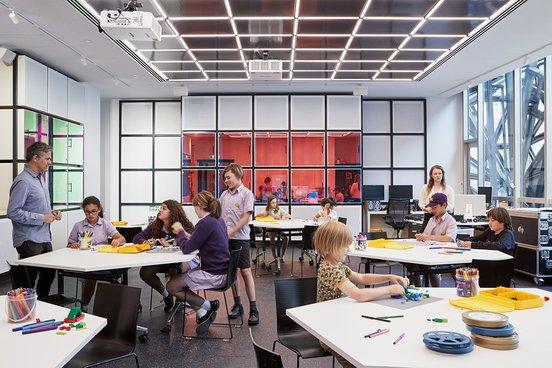 ACMI Gandel Digital Future Lab 1 - students partaking in activities