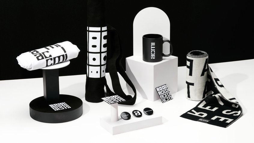 ACMI branded items - styled by Melinda King, photography by Gareth Sobey
