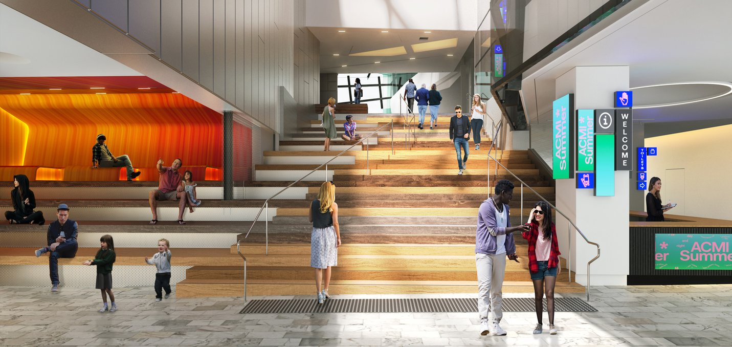 ACMI front entrance render by BKK Architects