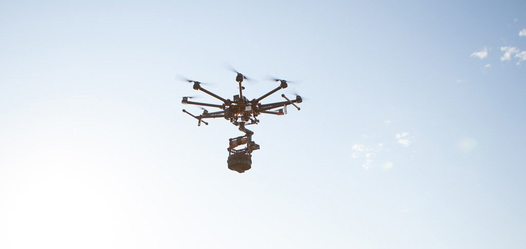 A Drone being used in the production of Collisions by Lynette Wallworth - hero image