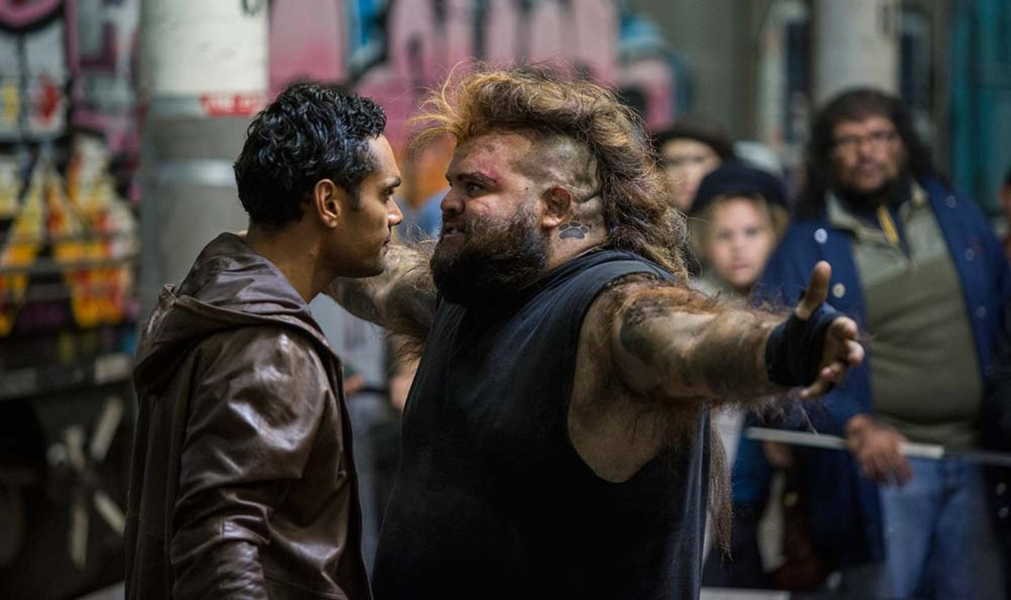 Waruu (Rob Collins) and Maliyan (Adam Briggs) in 'Cleverman'