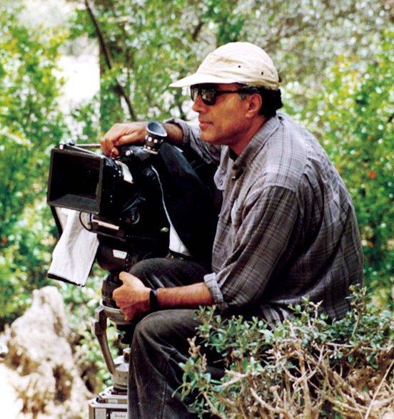 Abbas Kiarostami on set