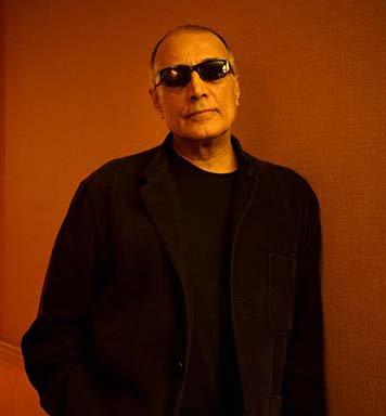 Abbas Kiarostami wearing sunglasses