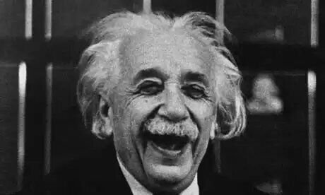Albert Einstein smiling