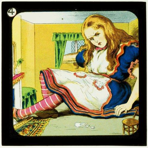 Alice magic lantern slide 1905