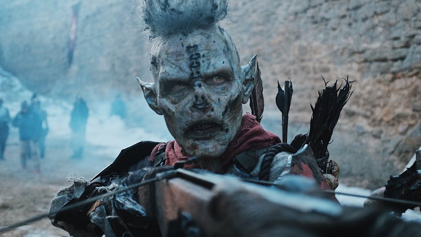 An orc shoots a crossbow - image courtesy of Neil Huxley