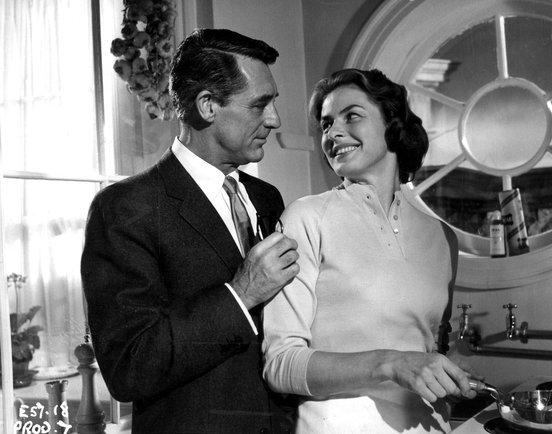 Cary Grant and Ingrid Bergman in Indiscreet scene