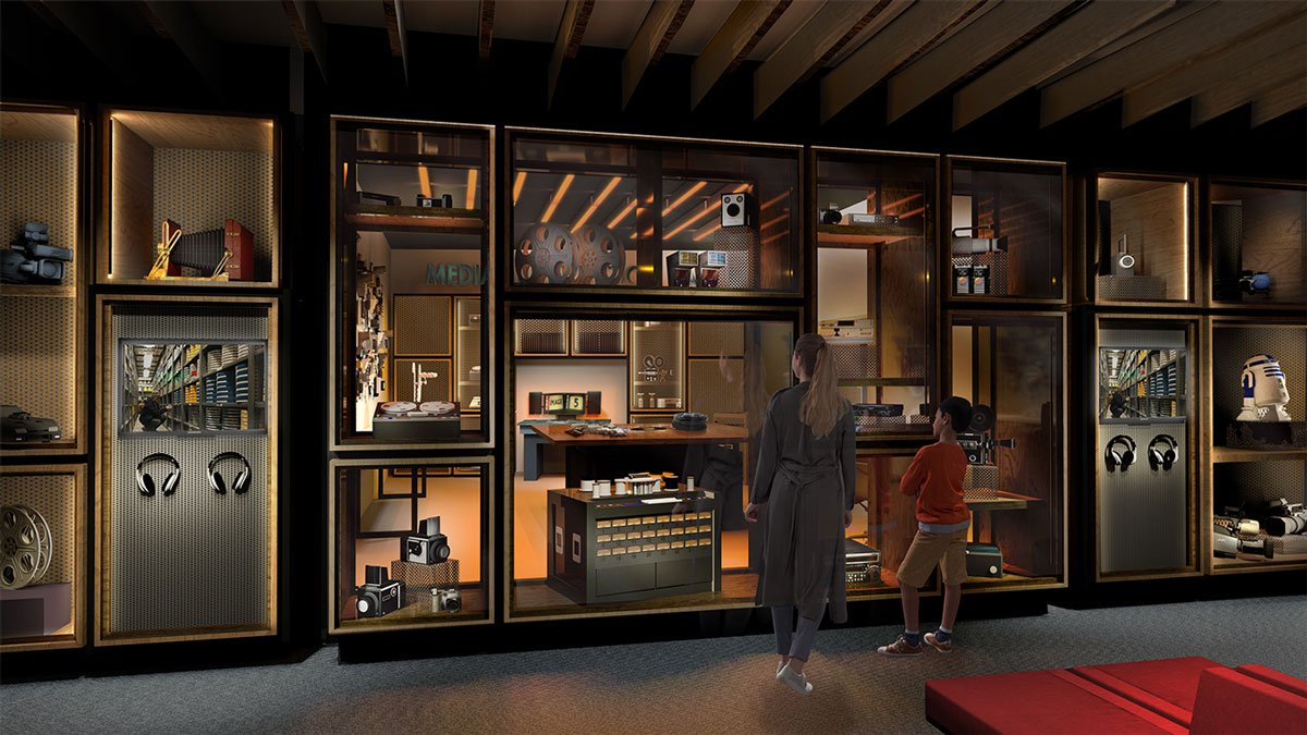 Artist's impression of the Media Preservation Lab, where the work of the Collection will be on display.jpg