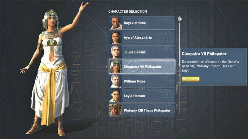 Assassins Creed Origins Discovery Tour character list