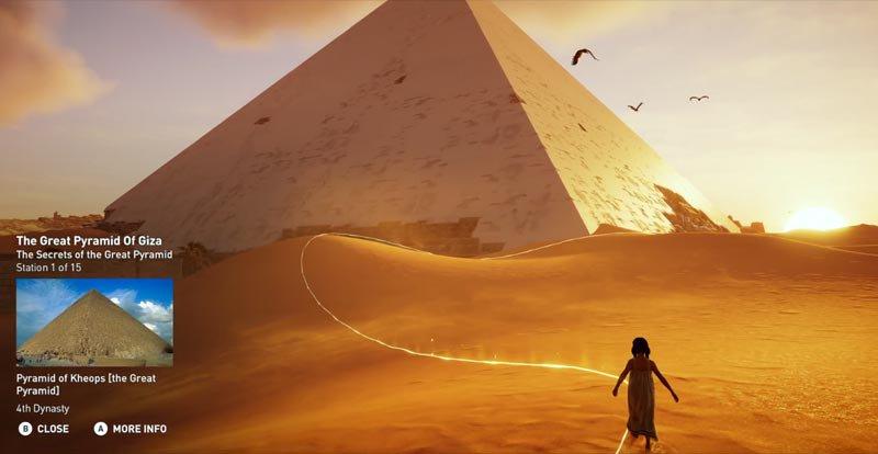 Assassins Creed Discover Tour Giza Pyramid
