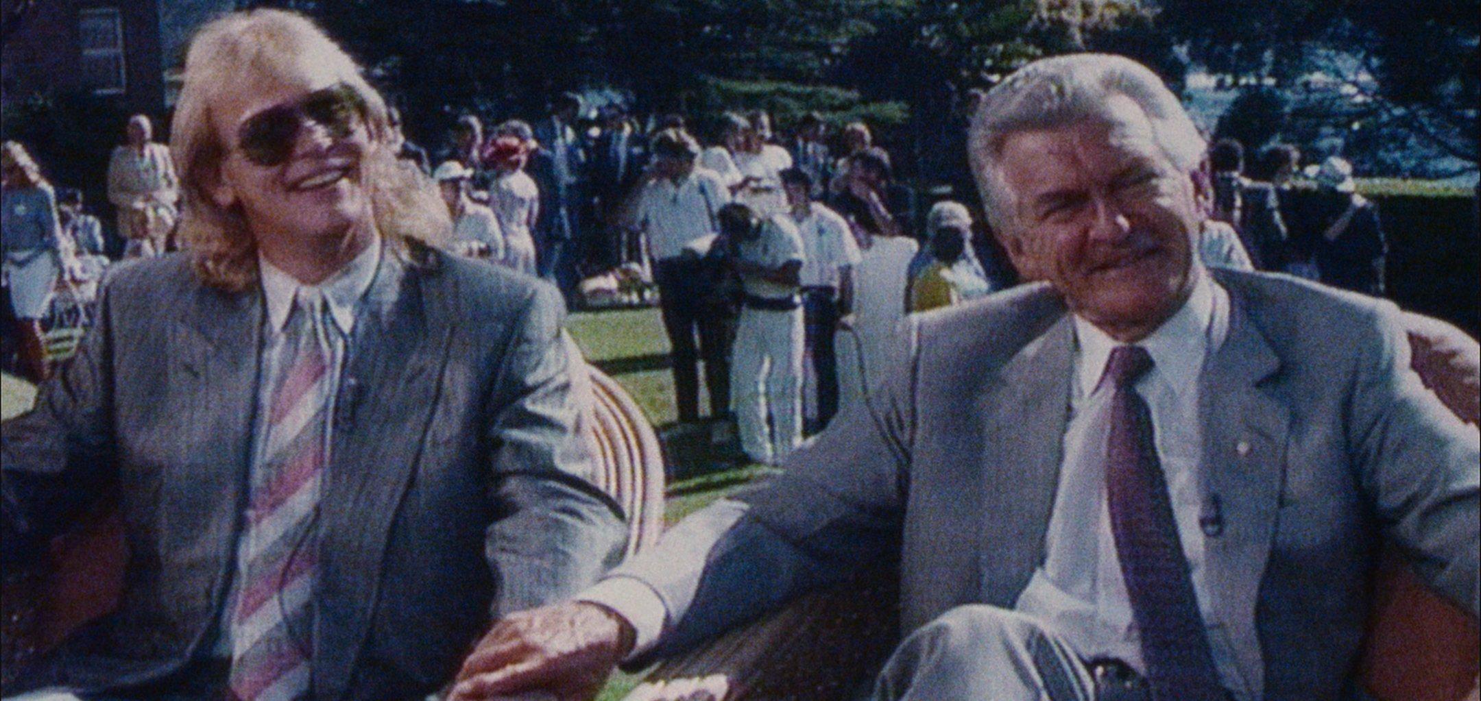 John Farnham & Bob Hawke appear on 'Good Morning Australia' in 'Australia Daze' (1988)