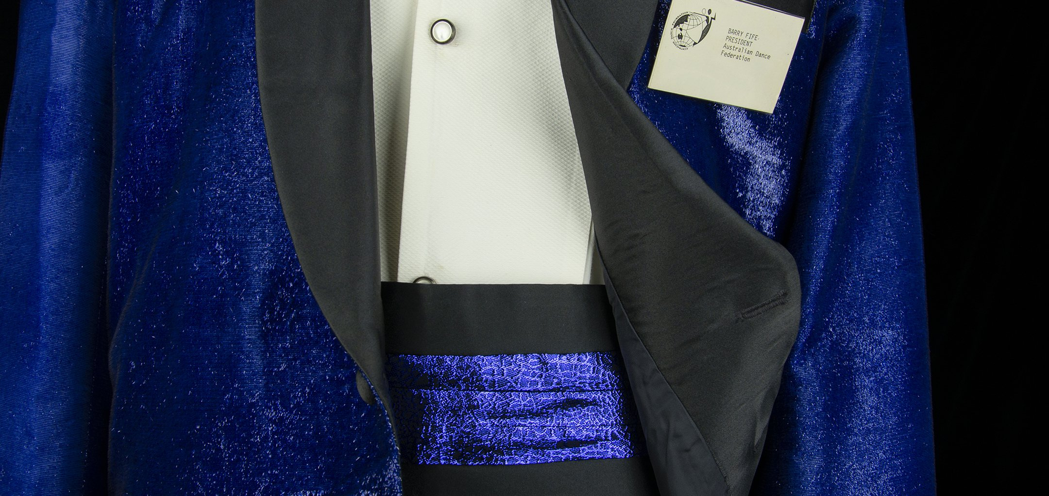 Barry Fife Blue Costume (detail). Photograph by Egmont Contreras