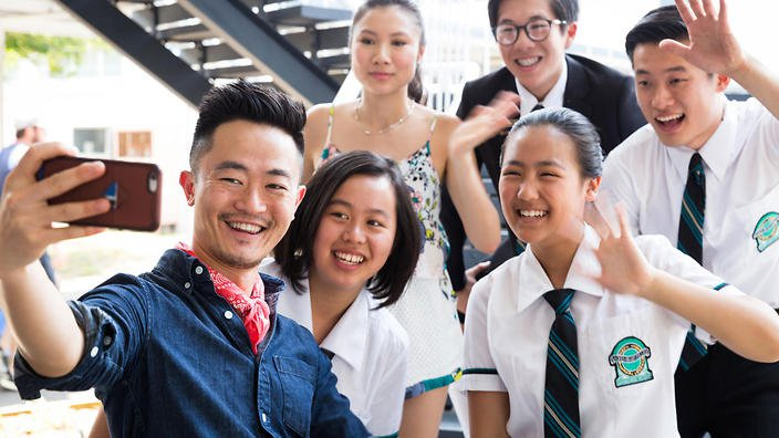 Benjamin law and the cast of the family law .jpg