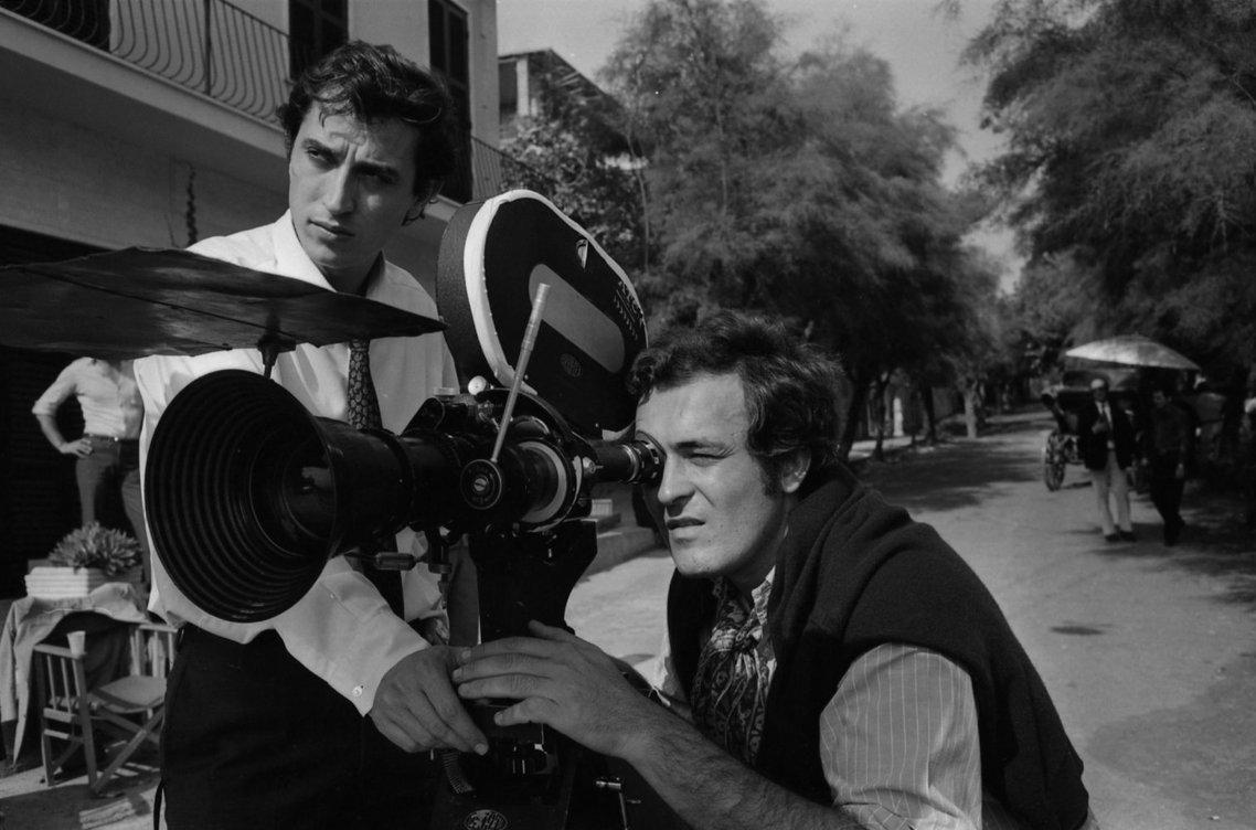 Bernardo Bertolucci on set of The Conformist (1970)