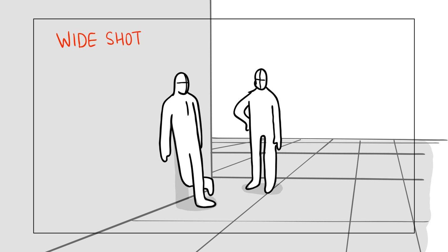 Storyboard long shot