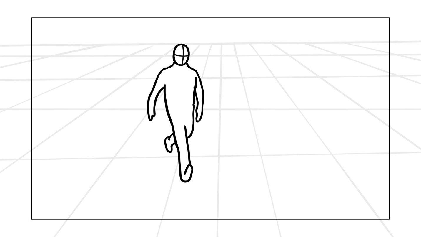 Storyboard arrow blank