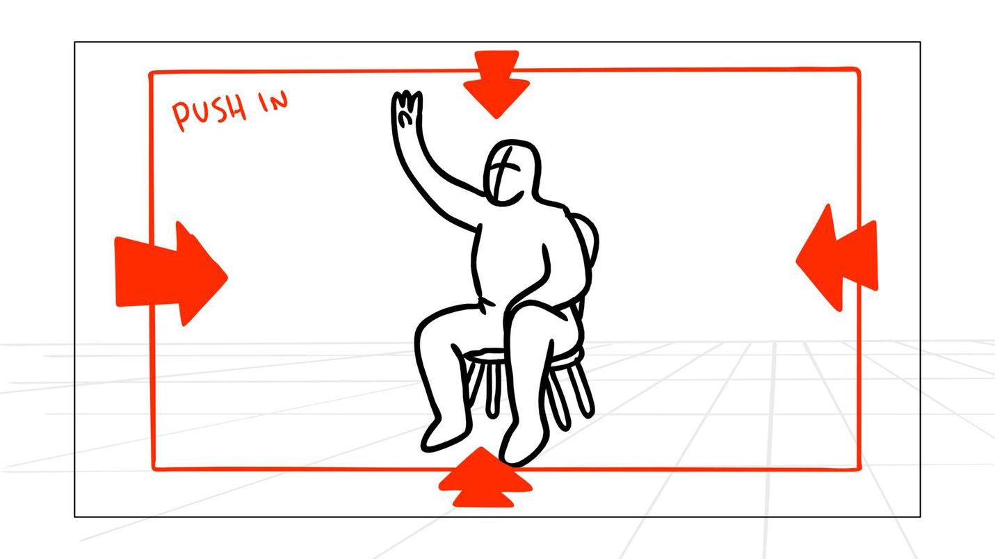 Storyboard arrow push in