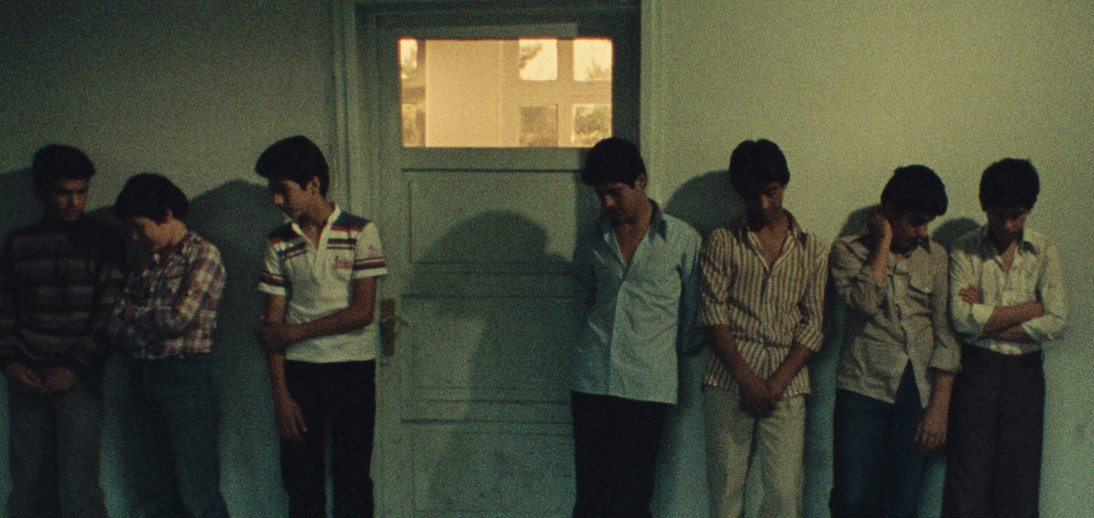 Boys looking sheepish standing outside the principal's office in 'First Case, Second Case (1979)e' (1979).jpg
