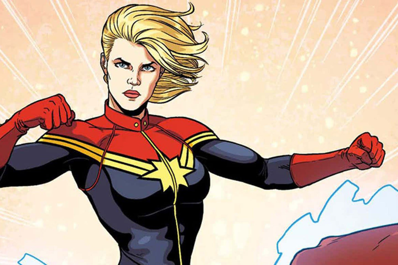 Captain Marvel comic illustration