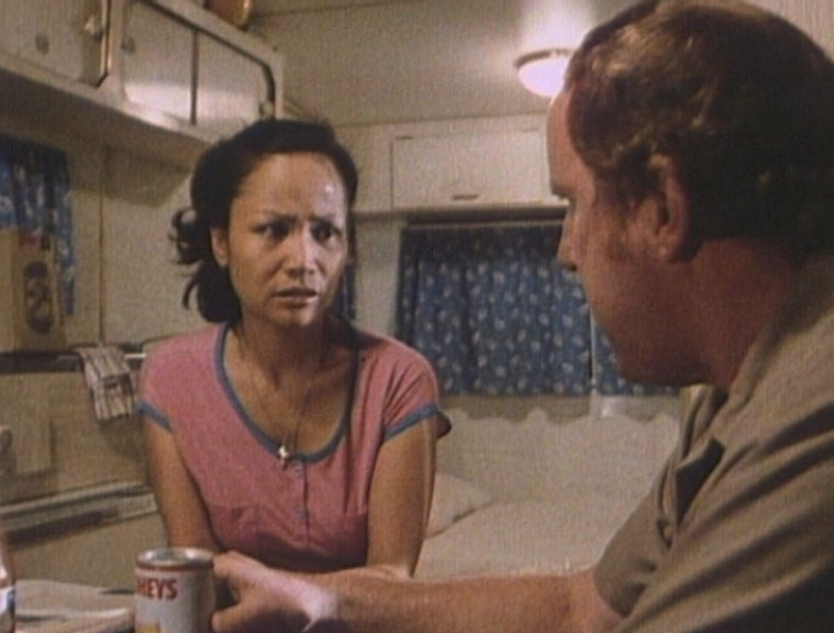 Charito Ortez and Ray Meagher in 'Mail Order Bride' (1984)