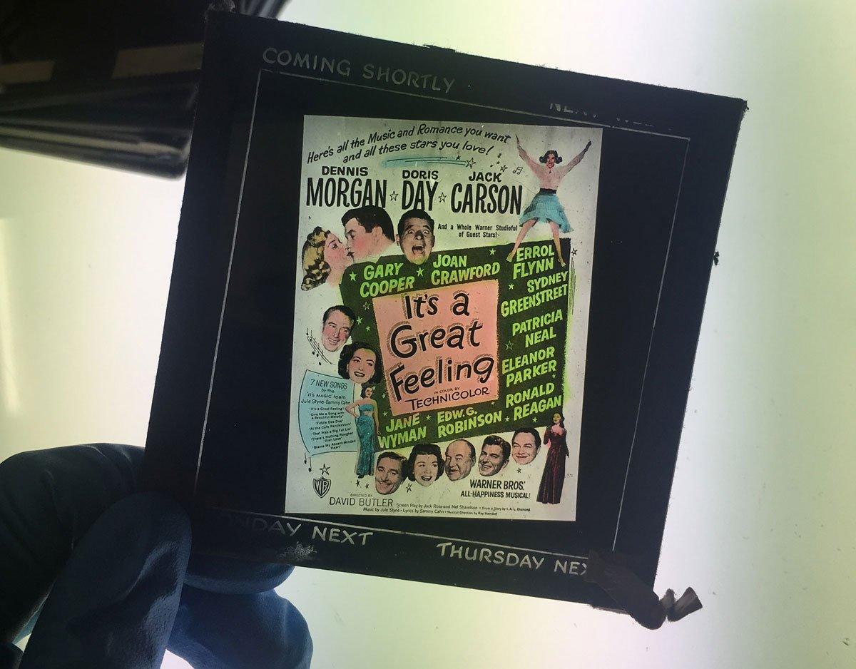 Cinema advertising slide, 'It's a Great Feeling' (1949)