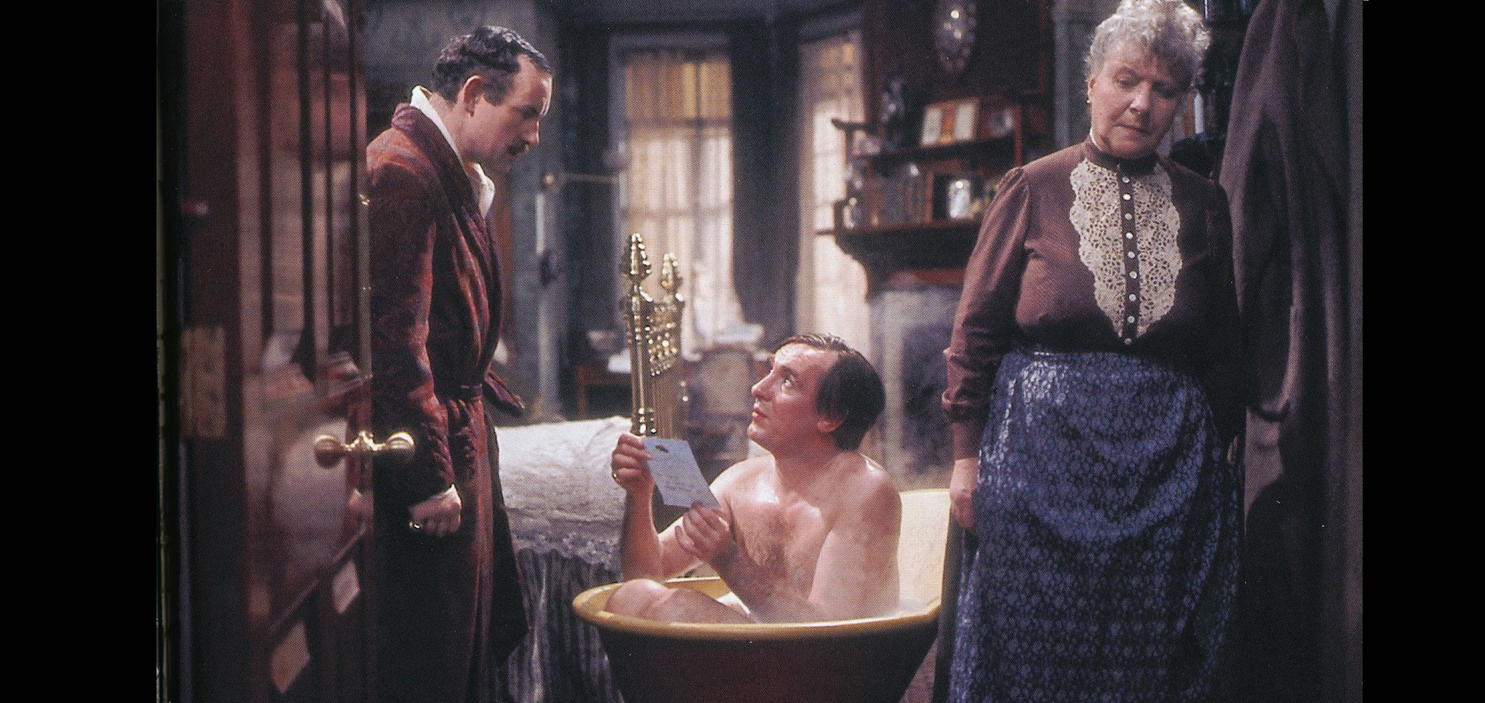 Colin Blakely, Robert Stephens and Irene Handl in The Private Life of Sherlock Holmes (1970)