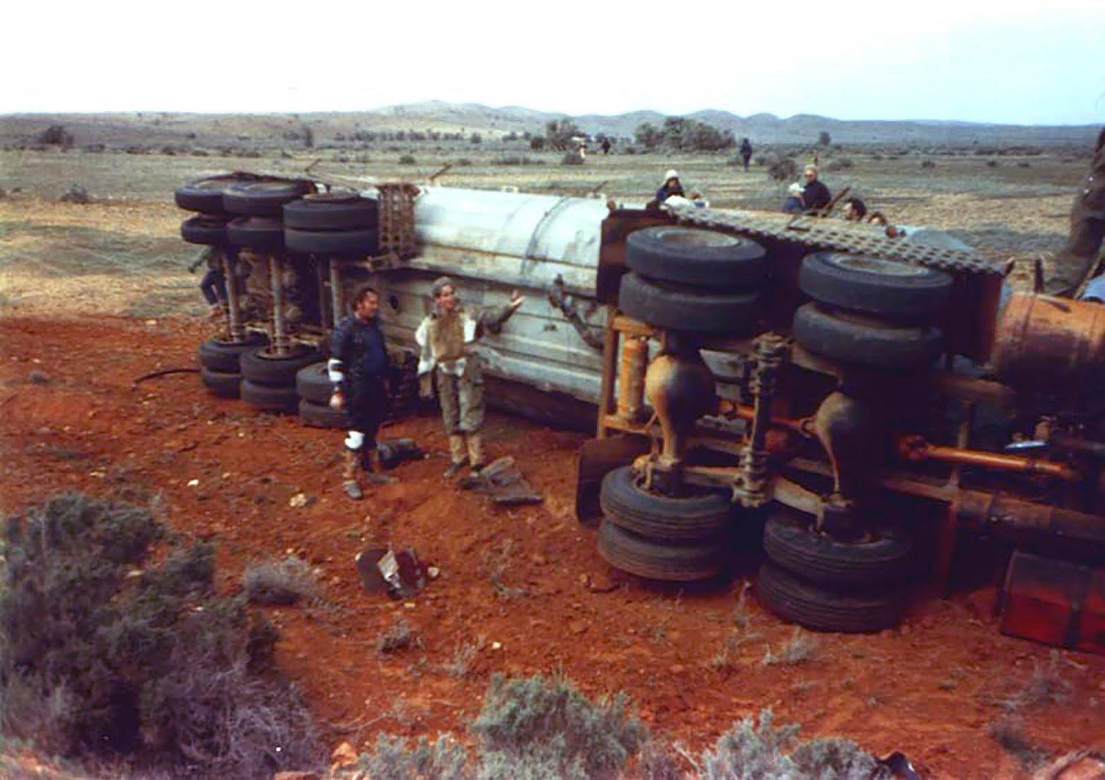 Dennis Williams (left) surveys the wreckage