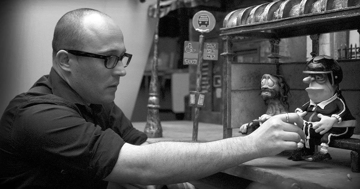 Adam Elliot behind the scenes of Mary and Max (2009)