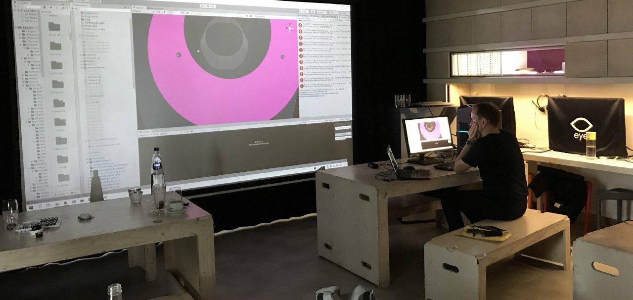 Dragan Espenschied sets up VR work for VR Hackathon -  hero image.jpg