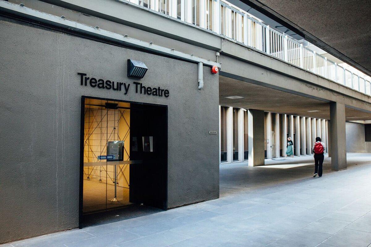 Entrance to the Treasury Theatre in Melbourne