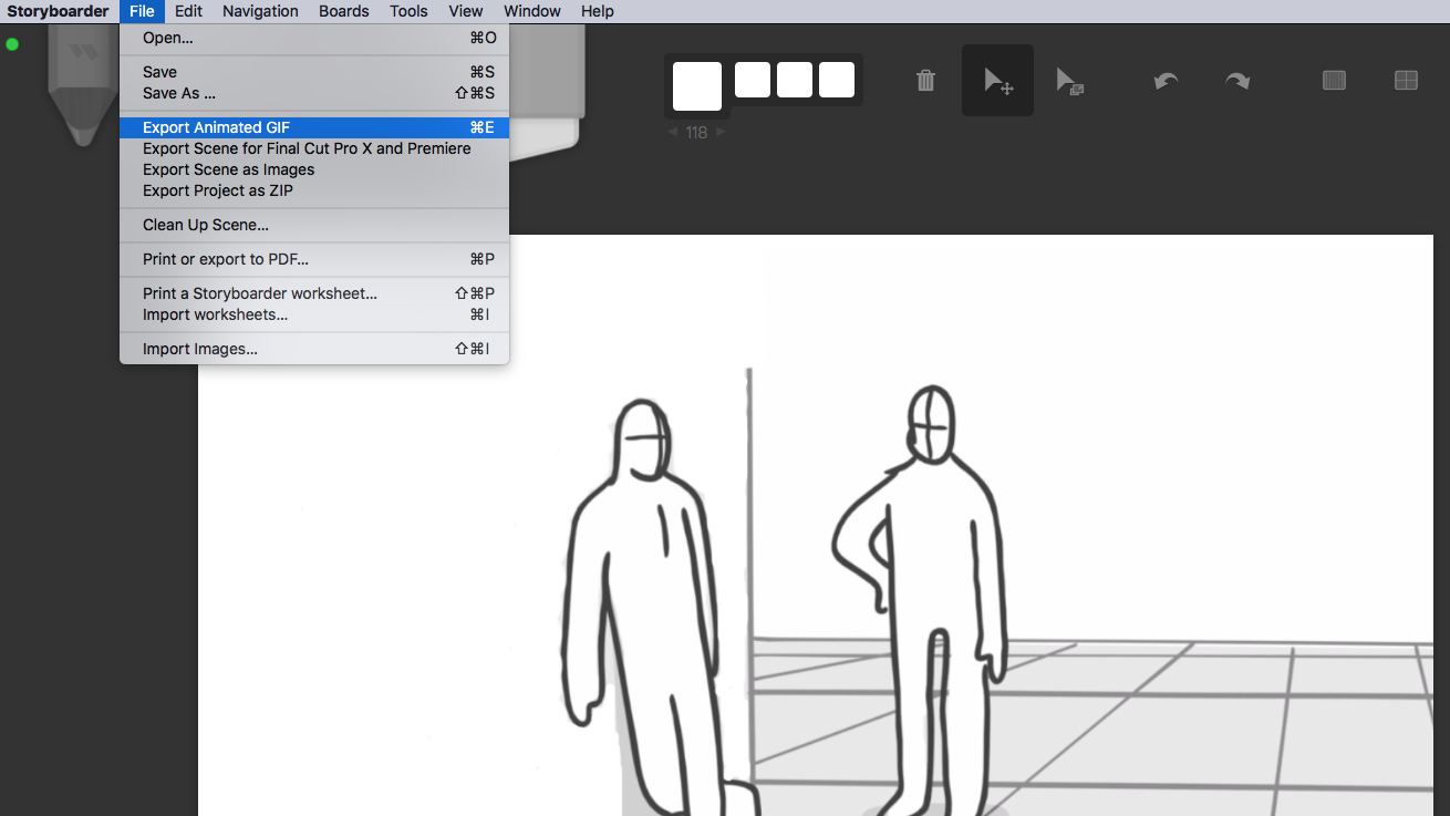 Storyboarder export GIF