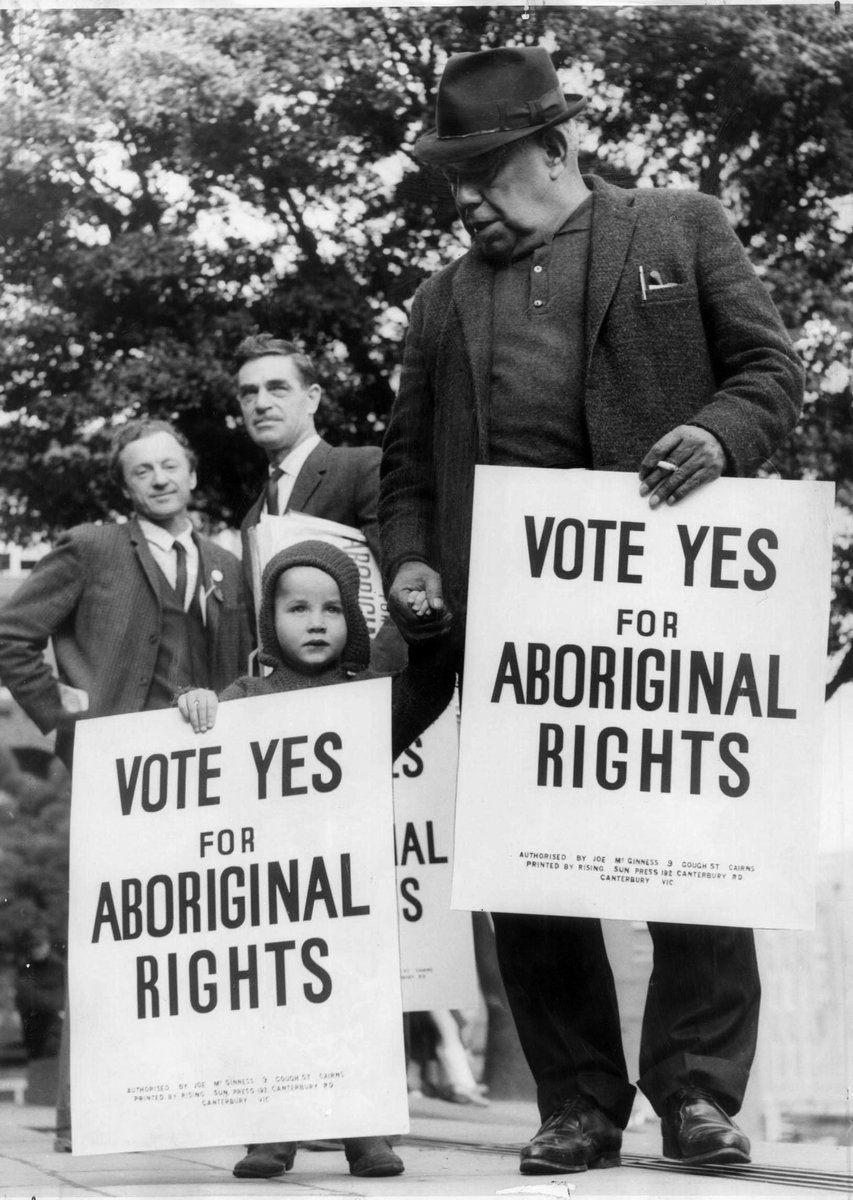 Bill Onus campaigns 'Vote Yes for Aboriginal Rights'