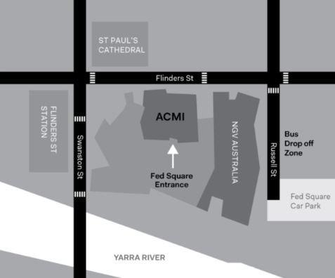 Fed Square Entrance Map Edu