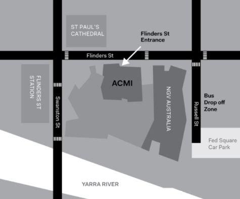 Flinders St Entrance map EDU