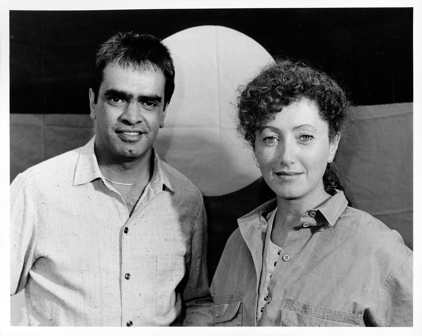 Gary Foley and Di Smith on the set of A Country Practice, Sydney