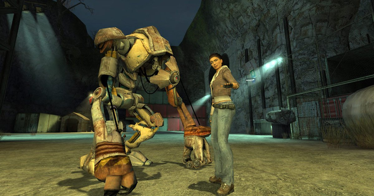 Alyx and Dog from 'Half Life 2' (2004)
