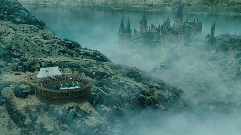 Establishing shot from Harry Potter