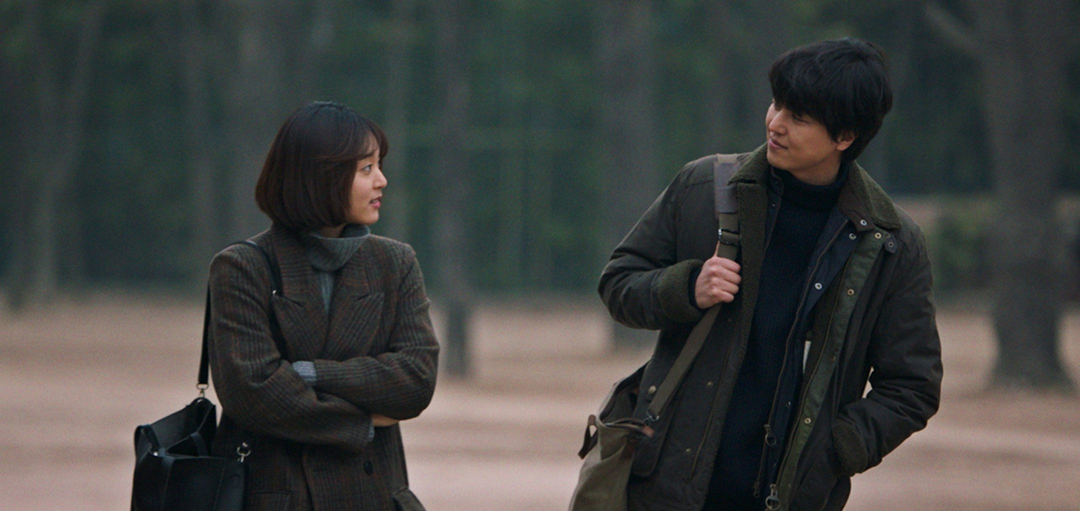 Hye-ri Yoon and Woo-jin Yeon in 'Shades of the Heart' (2021)