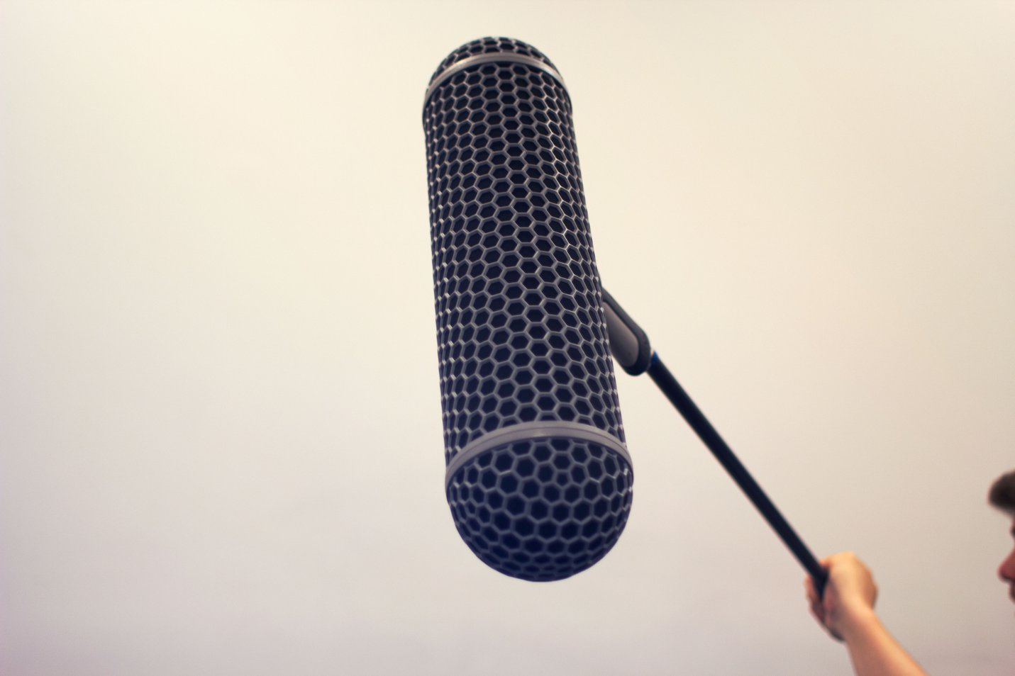 Boom microphone on pole