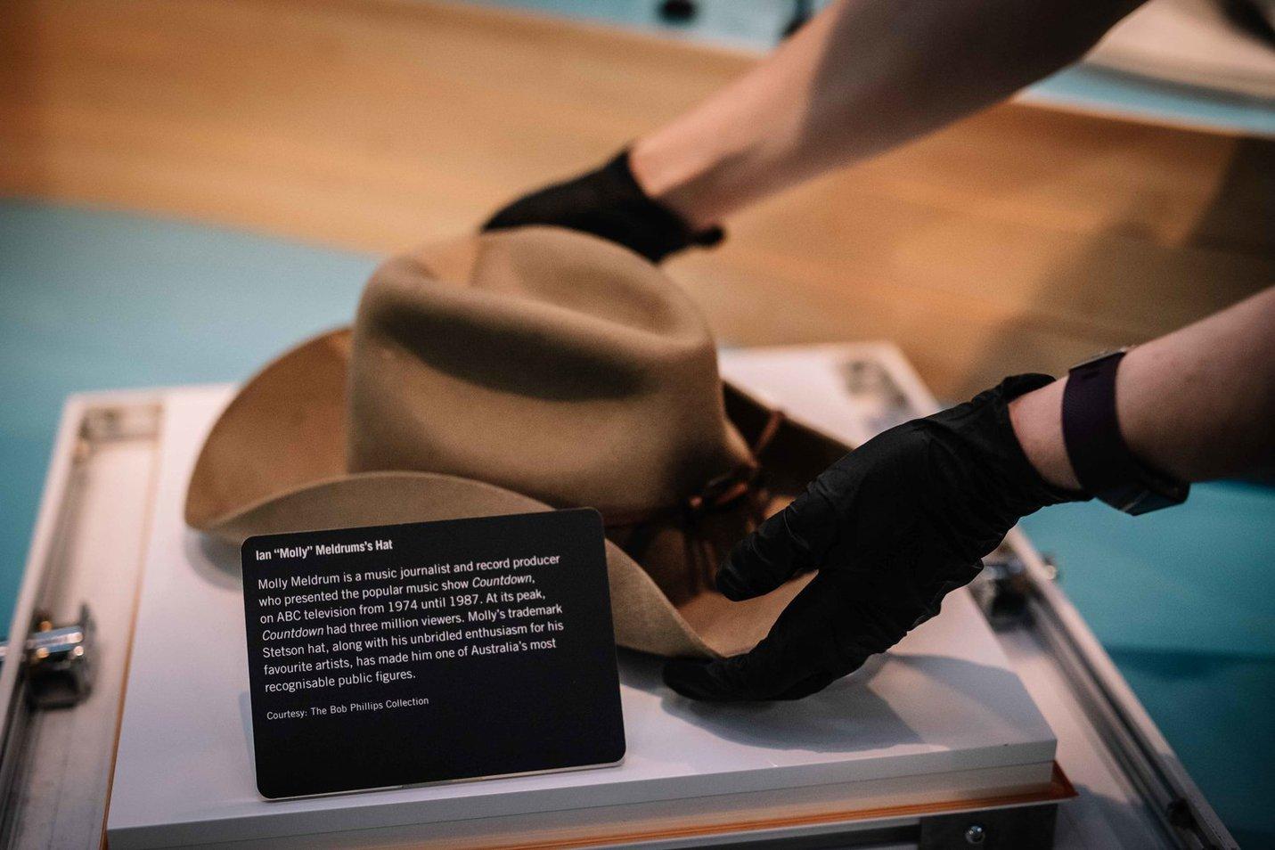Ian Molly Meldrum's hat - Phoebe Powell