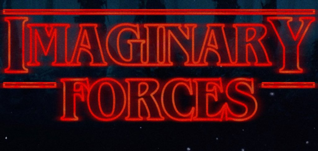 Imaginary Forces logo dones in Stranger Things style