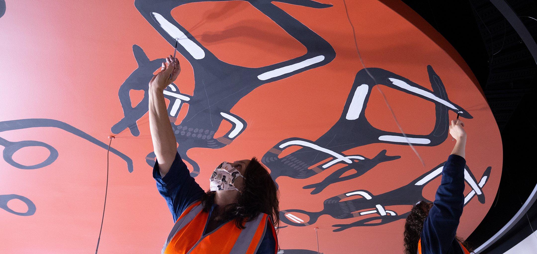 Installing Yanmeearr by Vicki Couzens - Field Carr