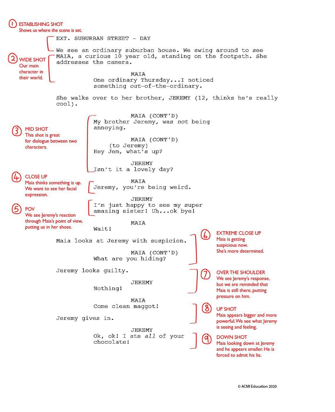 Jeremy's Lie script mark up