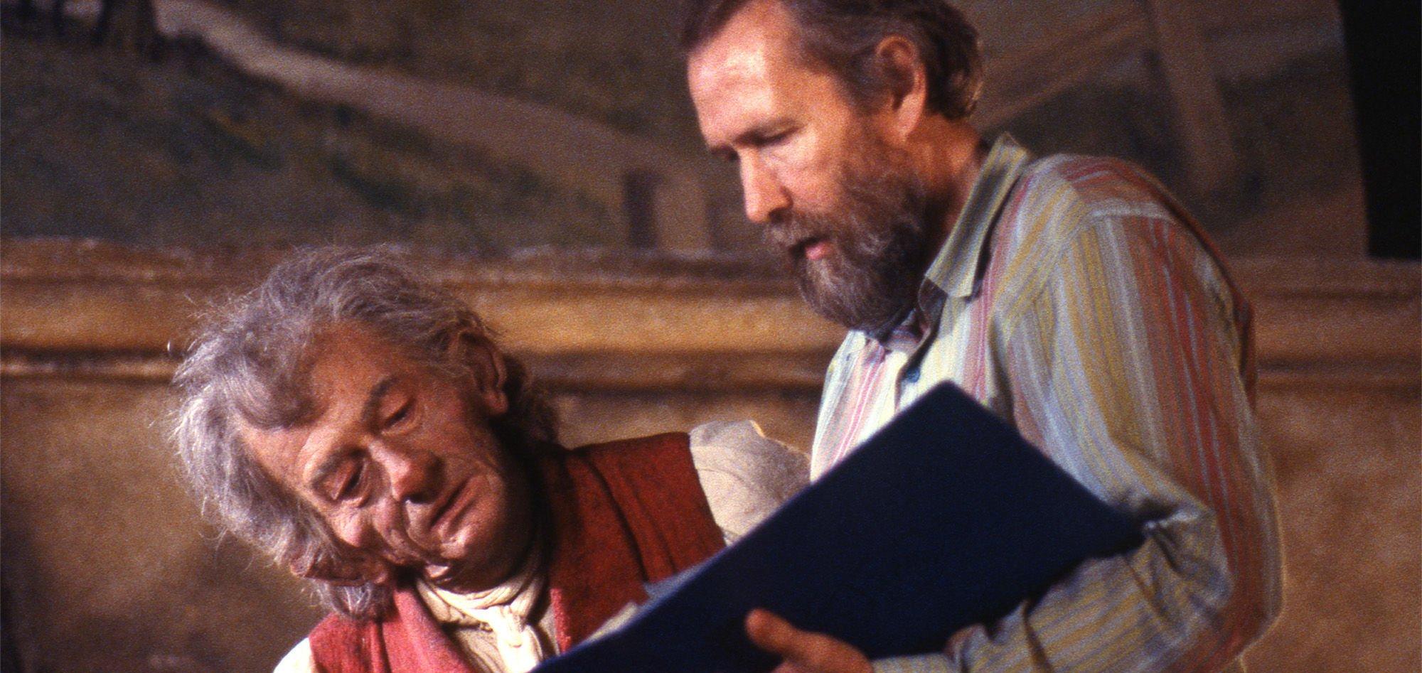 John Hurt and Jim Henson on the set of 'The Storyteller' - Hero Image