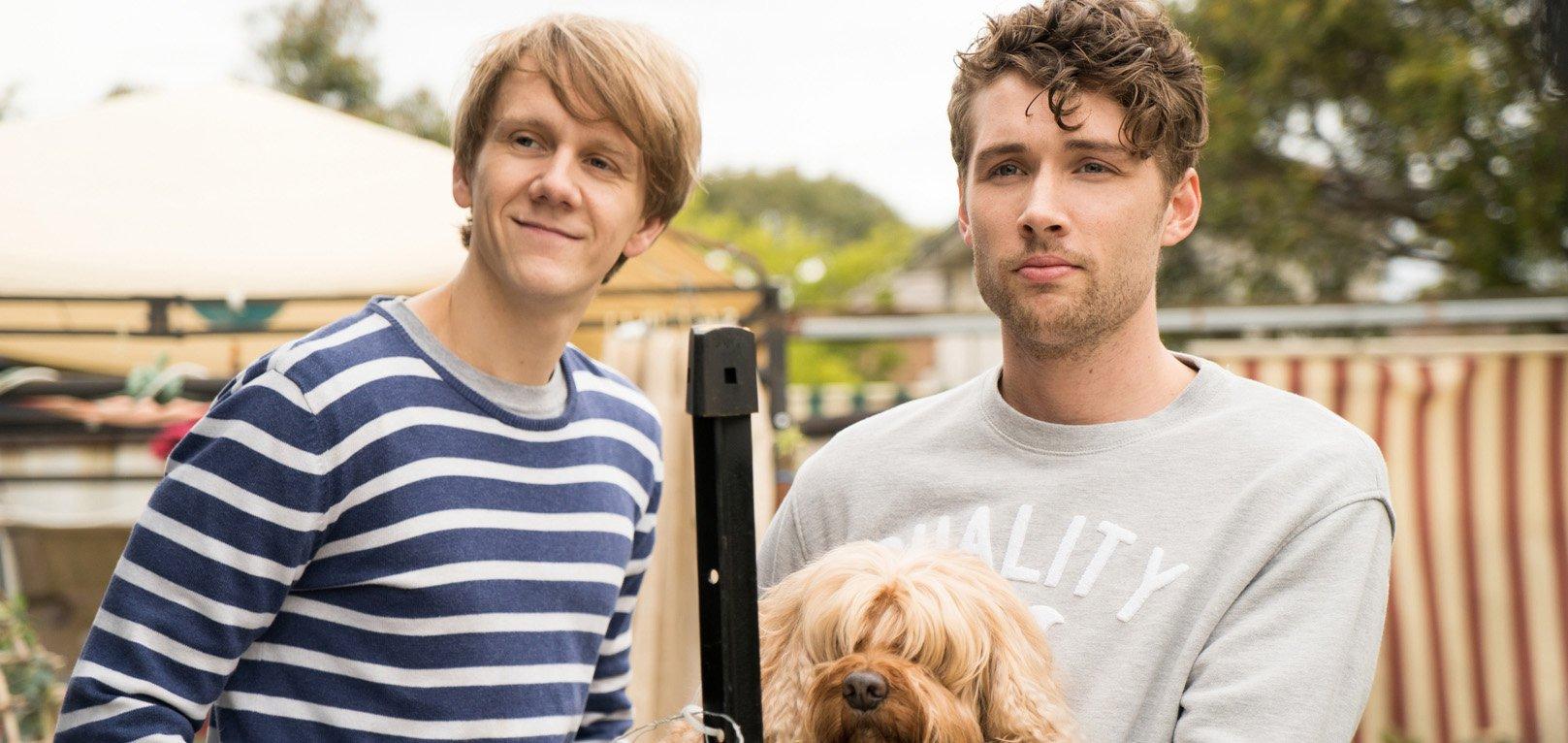Josh Thomas and Keegan Joyce in 'Please Like Me'. Image credit: Ben Timony