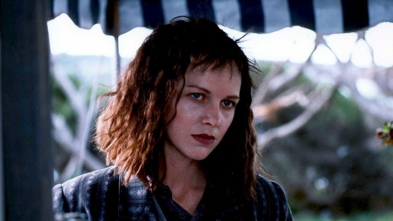 Judy Davis in a still from High Tide (1987)